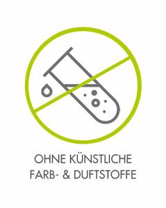 OHNE KÜNSTLICHE FARB- & DUFTSTOFFE